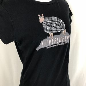 Zara Tops - Zara Silver Sheep T Shirt Short Sleeve Large